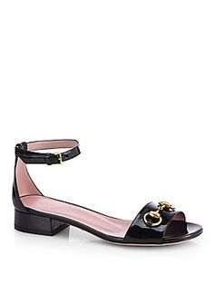 Gucci Liliane Patent Leather Sandals