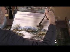 By a lazy stream Improvising with watercolour - YouTube