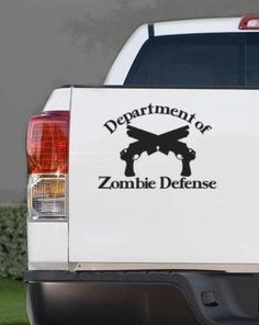 Department of Zombie Defense Vinyl Wall Decal Sticker Zombie Car Decal. $9.00, via Etsy.