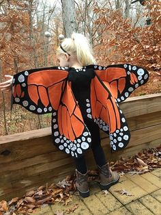 Monarch Butterfly Costume and Dress Up Wings for by LiliAndLibby