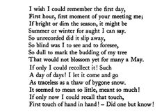 The First Day - Christina Rossetti Beautiful Words, Beautiful Poetry, Beautiful Dream, Oh Captain My Captain, Christina Rossetti, Reading Quotes, Poetry Books, Inspirational Thoughts, Quotable Quotes