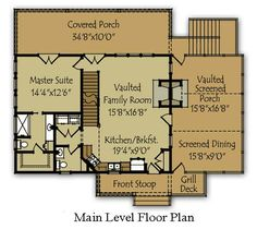 Cozy Mountain Cabin Floor Plans Mountain Cabin Floor Plans - This Cozy Mountain Cabin Floor Plans design was upload on December, 5 2019 by admin. Here latest Mountain Cabin Floor Pla. Cabin Plans With Loft, Cabin House Plans, Cabin Floor Plans, Cabin Kits, Barn Plans, Small Cabin Designs, Small Lake Houses, Small Cabins, Haus Am See