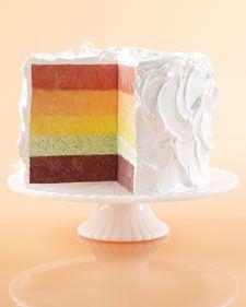 Frozen Rainbow Chiffon Cake -  DF, GF