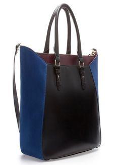 Black And Blue Leather Hand Bag. Borsette Alla ModaBorse ... ba994ab00f1