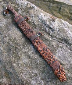 Vinterbjörn- viking long seax sword / knife. Via Etsy.