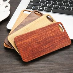 Real Wood Phone Cases For iphone 7 6 Plus 5 SE Cover High Quality Durable Natural Genuine Wooden Case Hard PC edge Shell Wooden Phone Case, Wooden Case, Hard Phone Cases, Iphone 7 Cases, Wood Plant Stand, Carving Designs, Plus 4, Iphone Models, Wood Design