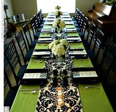 Print table runner