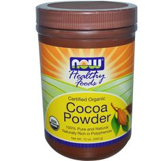 Now Foods, Healthy Foods, Certified Organic, Cocoa Powder, 12 oz (340 g) - iHerb.com