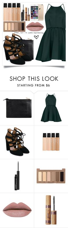 """""""sorry, I'm under construction"""" by myusernameisb ❤ liked on Polyvore featuring Aquazzura, mark., MAC Cosmetics, Urban Decay and tarte"""