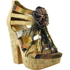 I don't care what anyone says.....wedges can be worn year-round. I love the summer style with the fall color :-)