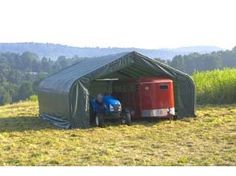 ShelterLogic Peak Style 26ft.W Garage/Storage Shelter - Gray, 32ft.L x 26ft.W x 16ft.H, 2 3/8in. Frame, Model# 84055 by ShelterLogic. $4291.89. Ripstop tough advanced engineered polyethylene fabric cover, doors and end panels. Triple-layer 9-oz.-per sq. meter woven fabric is UV-treated inside outside and in between. Industrial grade 2 3/8in. steel frame construction. DuPont premium thermoset powder-coat finish resists rust and corrosion. Bolt-together hardware at...