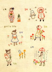 Embroidery from a book on SouleMama's blog