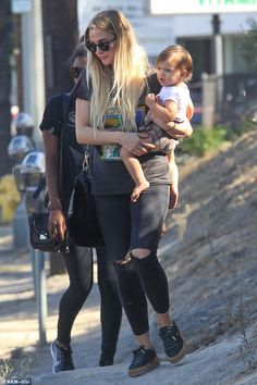Sunday funday! Ashlee Simpson stepped out for a fun-fueled family day out on Sunday...