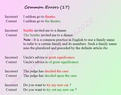 Forum | ________ Learn English | Fluent LandCommon Errors in English | Fluent Land