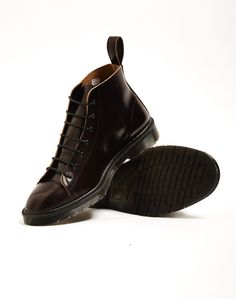 Dr Marten's Made in England Classic Monkey Boot Red | Shop men's shoes and clothes at The Idle Man