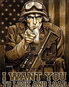 This I Want You to Lock and Load Steel Sign brings a rugged military look to your office, man cave, or bar decor with authentic details and metal toughness. Made in the USA, naturally! 11 x 14 in. Usmc, Marines, Military Stickers, Molon Labe, Military Art, Military Apparel, Military Jewelry, Military Signs, Military Quotes
