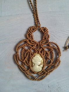 Excited to share the latest addition to my #etsy shop: Macrame necklace http://etsy.me/2nUeN13 #jewelry #necklace #macrame #macramenecklace #romantic #gift #polyestercord #brown #kellysmacrame