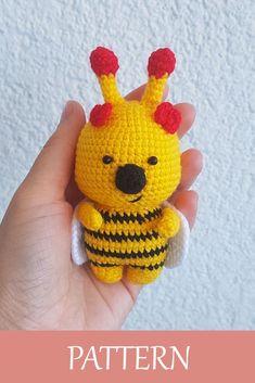 Crochet Animal Amigurumi, Crochet Animal Patterns, Stuffed Animal Patterns, Amigurumi Patterns, Amigurumi Doll, Knitting Patterns, Crochet Animals, Crochet Ideas, Stuffed Animals