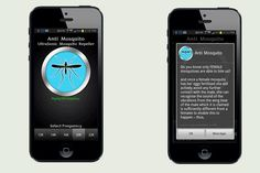 Check out this free mosquito repellant app!  All you do is turn up your phone's volume, adjust the frequency so that it's out of the human hearing range, and sit back as ultrasonic sound waves trick mosquitoes into thinking that bats are coming in for the kill. Free   thisoldhouse.com