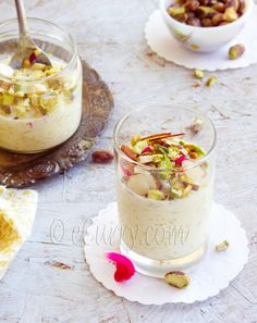 Kheer Indian Rice Pudding with Nuts and Saffron from eCurry. http://punchfork.com/recipe/Kheer-Indian-Rice-Pudding-with-Nuts-and-Saffron-eCurry