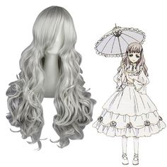 Black Butler Queen Victoria Silvery Gray Cosplay Wig