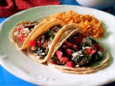 Tacos de Champiñones y Rajas - lacocinadeleslie