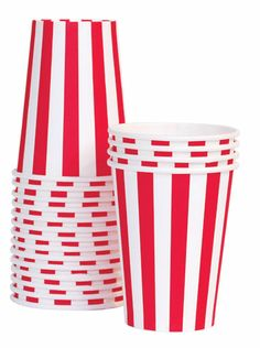 Paper Cups - Red Stripes