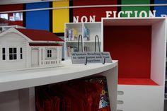 Close up of shelving and reading nook Bfg, Reading Nook, Shelving, Furniture, Home Decor, Shelves, Decoration Home, Room Decor, Reading Nooks