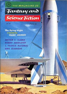 The Magazine of Fantasy and Science Fiction, July 1956, cover by Chesley Bonestell