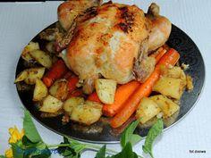 Moje Małe Czarowanie: Maślany kurczak pieczony na marchewce