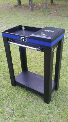 Back the Blue Police equipment caddy Used Woodworking Tools, Woodworking Equipment, Woodworking Guide, Easy Woodworking Projects, Popular Woodworking, Woodworking Furniture, Custom Woodworking, Wood Projects, Woodworking Techniques