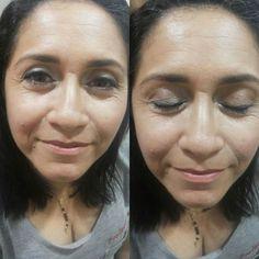 Aula de Auto maquiagem (Maquiagem para o dia) e a aluna simplesmente ARRASOU