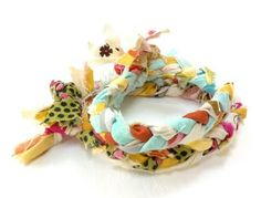 Strands of Thought fabric braided bracelets