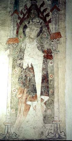 Female saint Tingstäde, region of Gotland, Sweden Made by ? 1300-1350