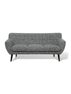 Harry 3 seater sofa black/white