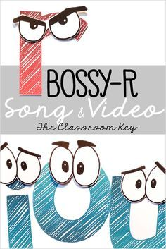 FREE Bossy R song and video is a fun way to practice r controlled vowel phonics patterns, perfect for 1st grade or 2nd grade