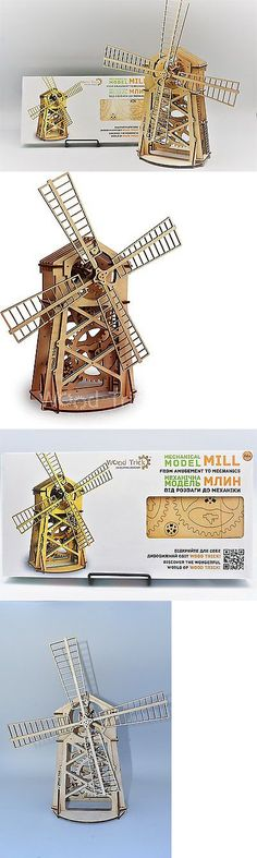Wooden 2595: Wood Trick Windmill Wind Mill Mechanical Model 3D Wooden Puzzle Self-Propelled -> BUY IT NOW ONLY: $48.14 on eBay!