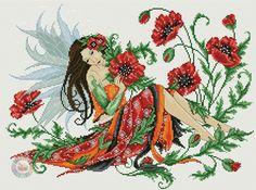 Fairy Among the Poppies 1/8