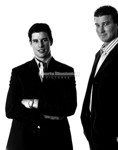 Hockey's best. Crosby & Lemieux.  Awesome picture!