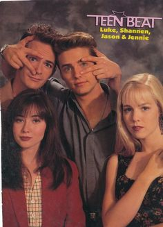 Luke Perry, Jason Priestly, Shannon Doherty and Jennie Garth Beverly Hills 90210, Best Memories, Childhood Memories, Jason Priestley, Nostalgia, Jennie Garth, Shannen Doherty, Luke Perry, Old Tv Shows