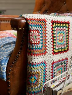 "I've started on a ""granny square"" blanket that looks like it will be of similar fashion to this one, and that is to say random."