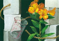 Japan Art, Glass Vase, Watercolor, Drawings, Flowers, Painting, Image, Beautiful, Japan Design
