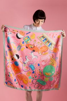 Karen Mabon Scarf - Bedroom Floor Jelly Shoes, gerbils and slinkies, too good. Textiles, Textile Prints, Textile Design, Lino Prints, Block Prints, Scoodie, Outfit Zusammenstellen, Mabon, How To Wear Scarves