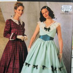 Simplicity 7312 Civil War Gown Costume, Pattern Gone with the Wind Dress, Cape