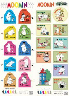 ムーミン入稿20150127 Pamphlet Design, Tove Jansson, Comic, Little Flowers, Cute Bunny, Craft Party, Postage Stamps, Funny Cute, Cute Pictures