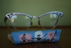 Vintage Women's Cateye Glasses Frames with by CountryGirlsVintage
