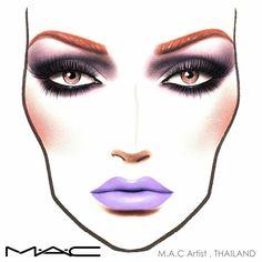 macfacechart facechart maccosmetics makeup on Instagram
