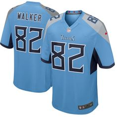 Men s Nike Tennessee Titans  82 Delanie Walker Light Blue New 2018 NFL Game Stitched  Jersey c9e7ed389