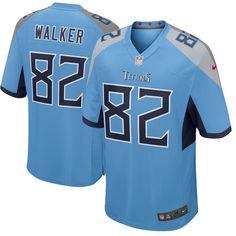 buy online 1543c 99d5d Men s Nike Tennessee Titans  82 Delanie Walker Light Blue New 2018 NFL Game  Stitched Jersey