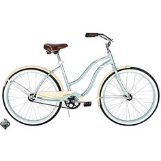 Such a cute cruiser bike at #walmart and it's only $89.97.  I love it.  So vintage looking.  I love the brown seat and handles.